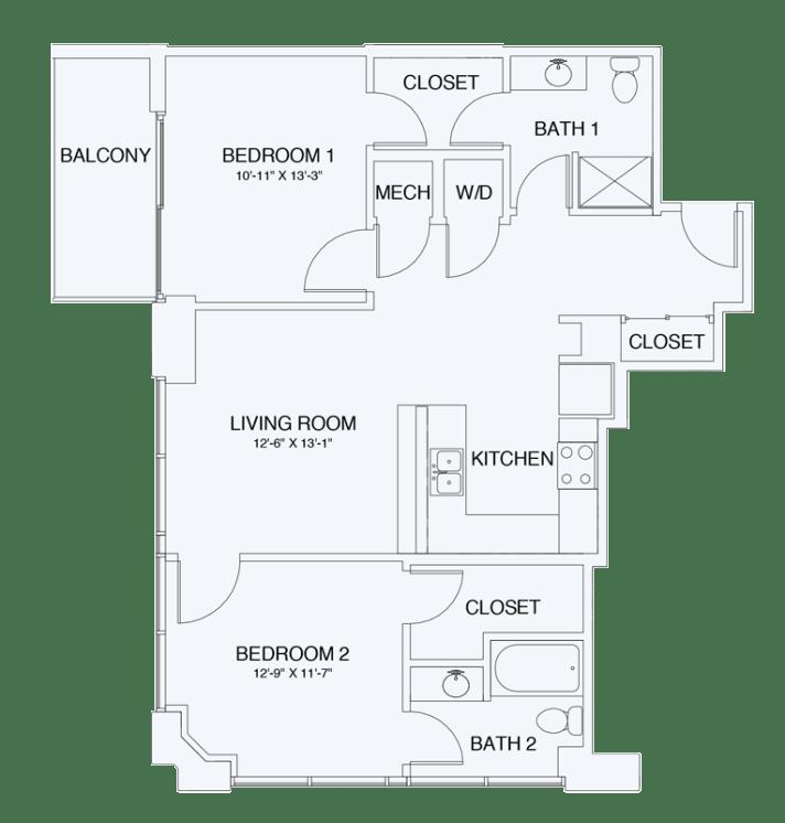 Floor Plan of SkyHouse