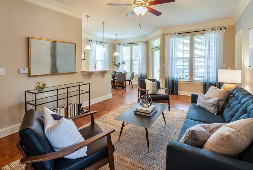 Living Room at Bell Apex