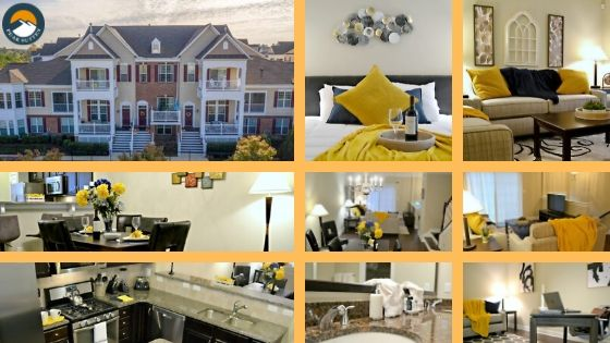 Brier Creek Furnished Apartments building and indoor rooms