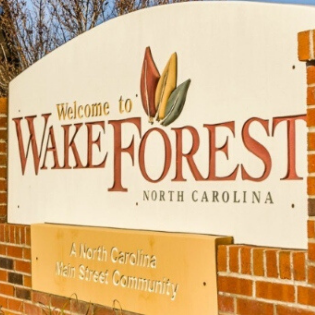 Wake Forest Brick Welcome Sign