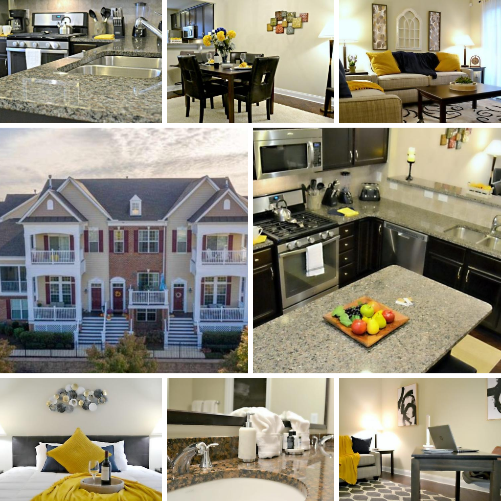 Raleigh North Carolina Furnished Townhouse For Rent 3 bed 3.5 bath